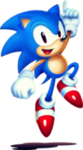 Sonic Mania Sonic new blue with shadow