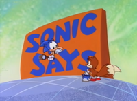Sonic Says card