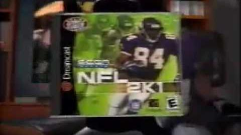 NFL 2K1 (Packer Pack) Commercial for the Sega Dreamcast