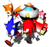 190px-Sonic and Tails, Amy, Knuckles and Robotnik