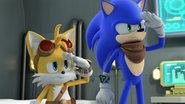 Sonic and Tails salute