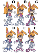 Early Bunnie redesign by Evan Stanly