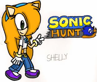 Shelly Sonic Hunt HYRO fanart for Sonicrox14