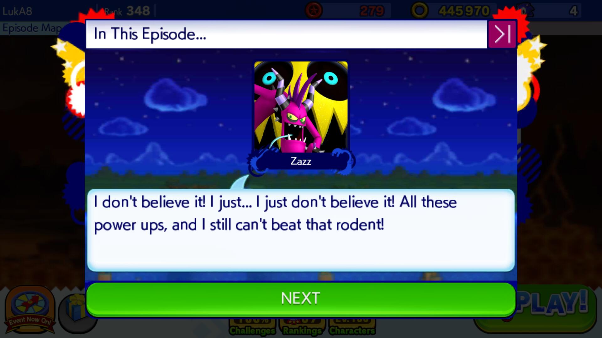 Image Sonic Runners Zazz Raid Event Zavok Cutscene Png Sonic
