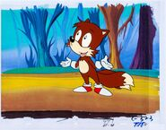 Sonic the Hedgehog Tails Production Cel (DiC, 1993)
