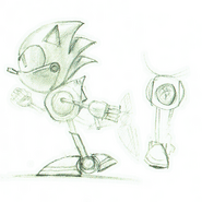 Early Metal Sonic concept
