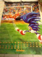 Sonic 1994 Official Calendar EU Oct