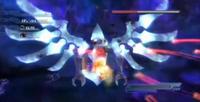 Super Shadow luchando con Solaris Nucleo