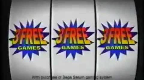 "Sega Saturn - ""3 Games Free"" Commercial - Virtua Fighter 2 - Daytona USA - Virtua Cop"