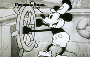 Mickey Is On A Boat