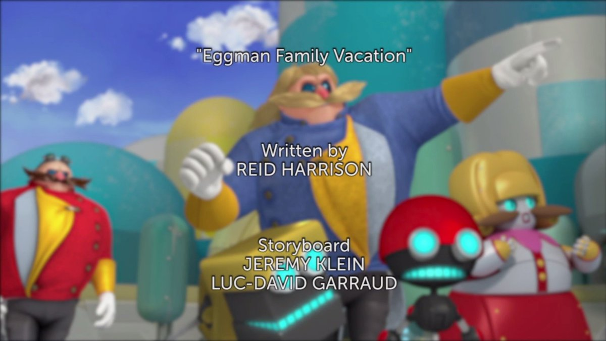 Eggman Family Vacation Title Card