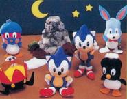 SEGASONIC plushies 1992