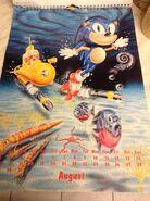 Sonic 1994 Official Calendar EU Aug