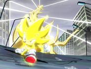 Super Sonic pokonuje Perfect Chaosa ep 32