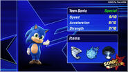 Baby sonic release statcard goof