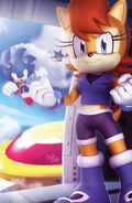 Original sonic the hedgehog 258 variant cover by elesis knight-d7ib39t