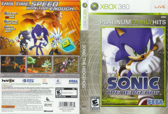 File:Sonic The Hedgehog (2006) - Box Artwork - US Front And Back (Platinum Hits) - (1).jpg