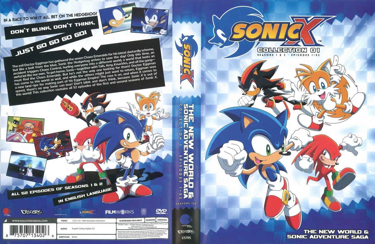 Fotos Do Sonic X inside image - sonic x collection 01 cover art | sonic news network