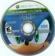 Sonic The Hedgehog (2006) - Disc - US (Platinum Hits) - (1)