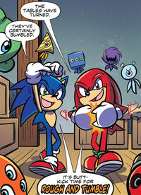 Sonic and Knuckles Mocking Rough and Tumble