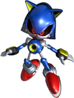 Metal Sonic Rivals art