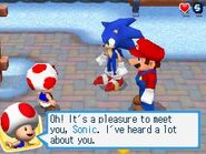 Sonic and Mario and toad