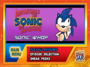 Sonic-who-main-menu