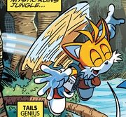 Tails Propeller Flying Archie Comics