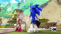 Old Monkey and Sonic