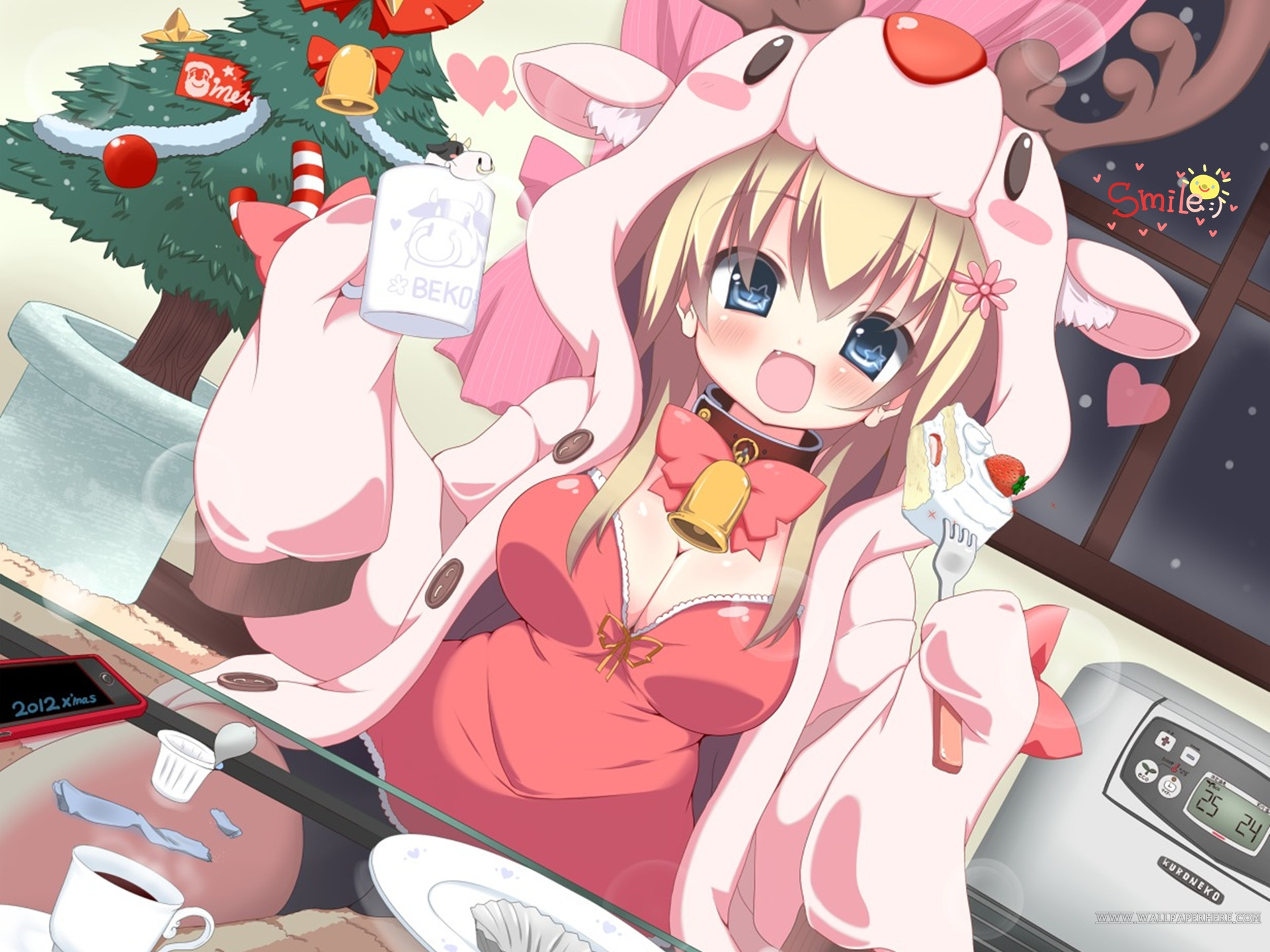Image - Anime Christmas Girl Wallpaper 1920x1440.jpg | Sonic Fan ...