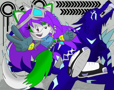 Sera the Fox and Kryptonite the Cyro-Tech Monsuno 2