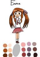 Emma as Kagami Hiiragi Winter