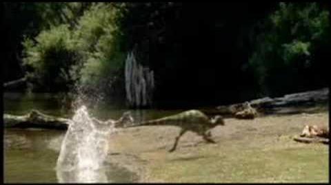 Dromaeosaurus hunting Parksosaurus