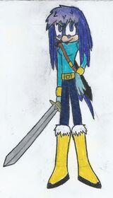Chloe-Su the Echidna (Light Mobius)