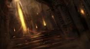 Flaming Ruins Concept 3