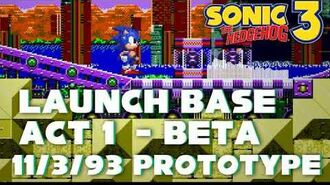 Gadget Garden Zone. 3, 1993) - Launch Base Act 1 Beta Theme