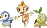 Pokemon platinum starters