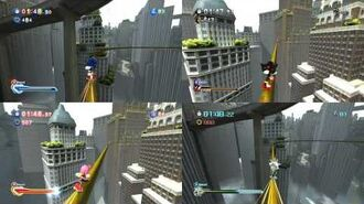 Sonic Unleashed Battle 4 Players - Empire City-0