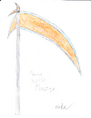 Phazex the red phazon scythe by makuta294-d3hve4y