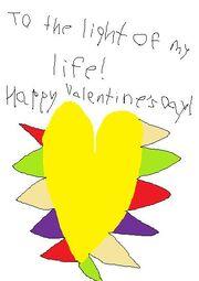 Light's Valentines card