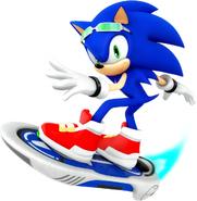 Sonic Riders Velocity Sonic Artwork