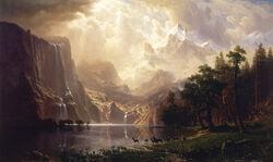 Albert Bierstadt - Among the Sierra Nevada, California - Google Art Project
