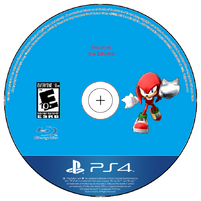 Knuckles the Echidna PS4 Disc