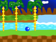 Sonic Rolling At Green Hill Zone!