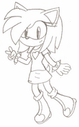 Melissa the Hedgehog Uncolored HYRO