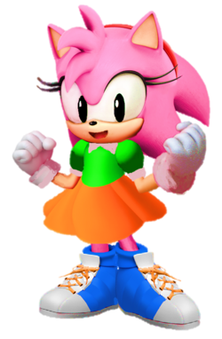 3d amy rose classic clothing by thearenddude-d3kffhh