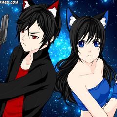Nightwing i Elena (anime/human)