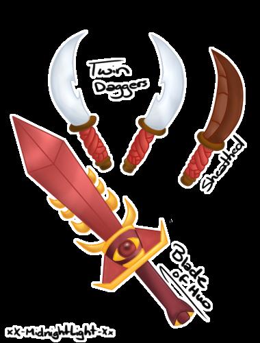 Hiero s weapons by xx midnightlight xx-d6oecw4