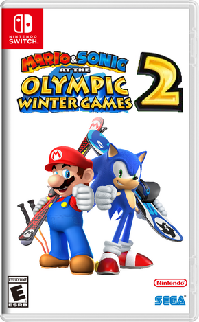 Mario & Sonic at the Olympic Winter Games 2 Boxart