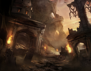 Flaming Ruins Concept